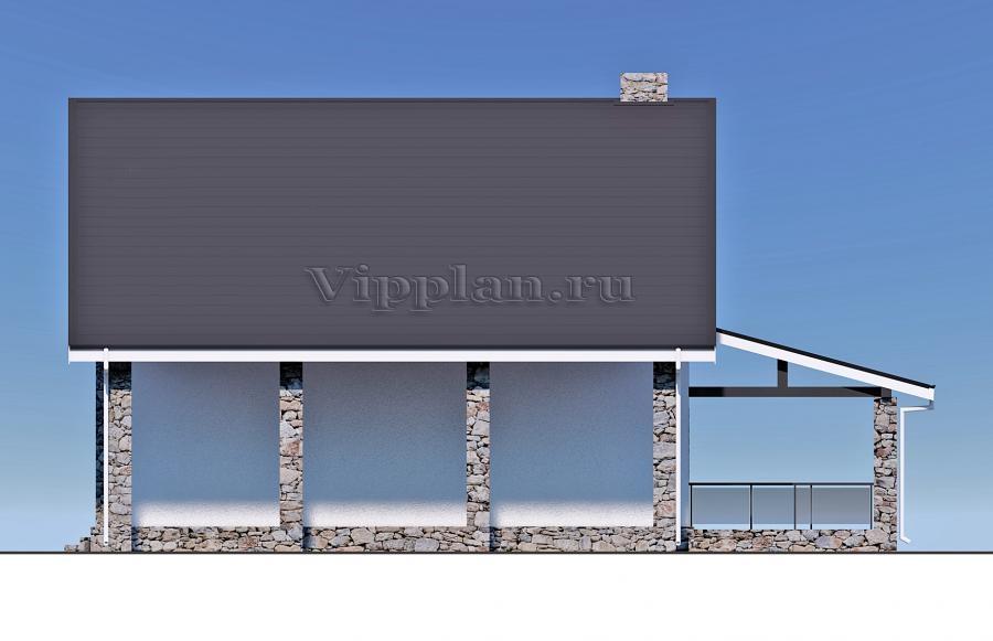 Современный дом из газобетона Vg1308 в Мурманске